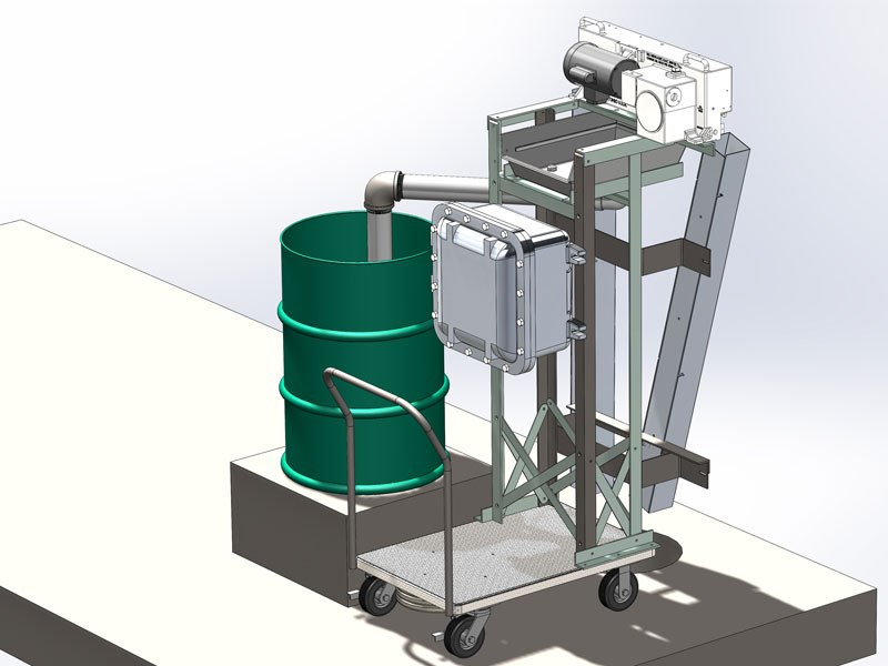 Explosion Proof Cart Mounted Skimming System